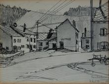 Albert ANDRÉ - Dibujo Acuarela - Eisenbach