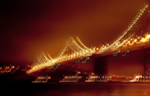 "Bruno PAGET - Photo - San Francisco ""Bay Bridge Golfer"""