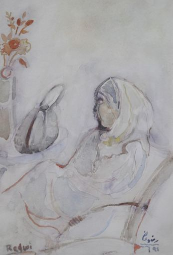 Abdulhalim RADAWI - Disegno Acquarello - SIN TITULO