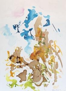 Nicole LEIDENFROST - Gemälde - Coffee Time - Berggipfel