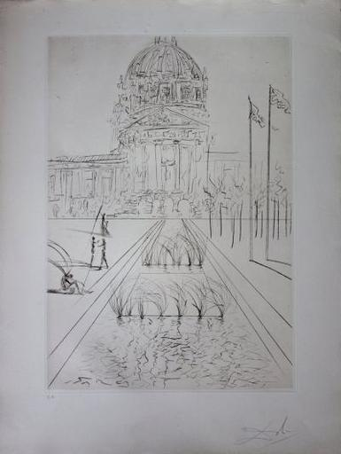 Salvador DALI - Stampa-Multiplo - San Francisco : City Hall