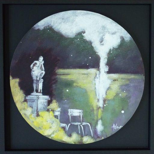 Anne Christine WELLENSTEIN - Peinture - Le penseur du Jardin