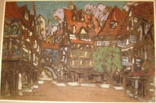 "Konstantin A. KOROVIN - Drawing-Watercolor - Stage design for Opera ""Faust"""