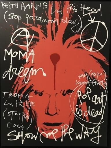 KOKIAN - Peinture - ANDY (Keith Haring in his head). Pop Art is dead