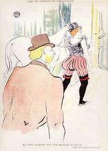 Henri DE TOULOUSE-LAUTREC (1864-1901) - DANS LES COULISSES DES FOLIES-BERGERE