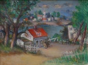 Simkha SIMKHOVITCH - Peinture - Untitled - Lake View