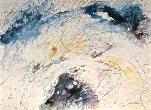 Baruj SALINAS - Dibujo Acuarela - White Flow