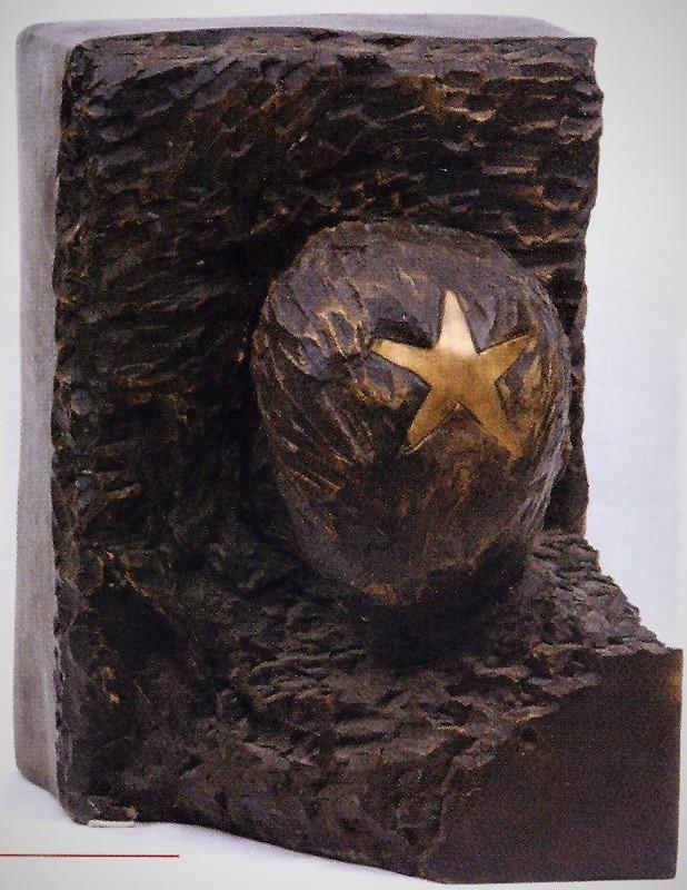 Aldo MONDINO - Sculpture-Volume - Ortisei - Ritratto di Duchamp