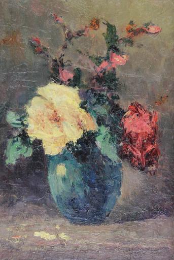 Narcisse HÉNOCQUE - Pintura - Bouquet de fleurs