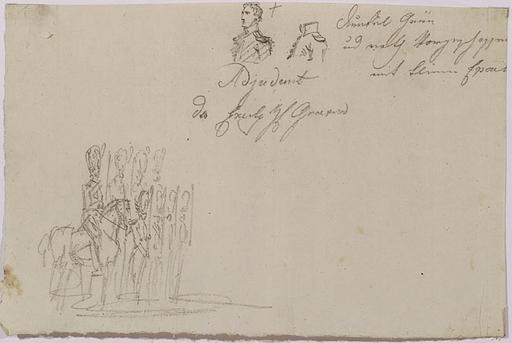 "Johann Nepomuk HOECHLE - Disegno Acquarello - ""Napoleonic Study"", early 19th Century"