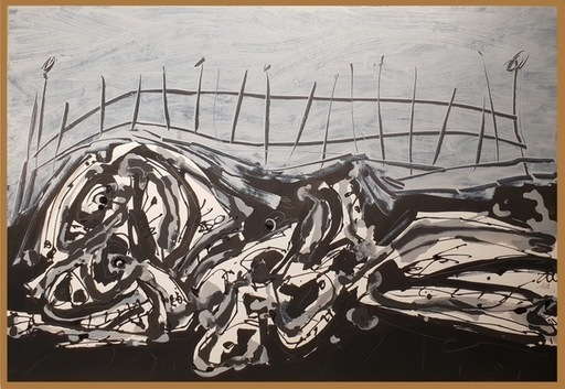 Antonio SAURA - Peinture - NU-PAYSAGE