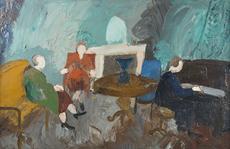 André LANSKOY - Pintura - Le concert de piano