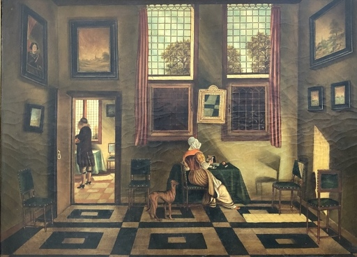 Charles MERTENS - Gemälde - Scène d'interieur