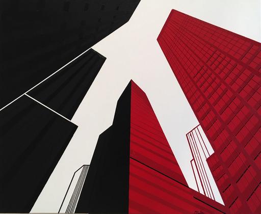 Michèle SALA - Painting - Manhattan