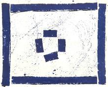 Sam FRANCIS - Dessin-Aquarelle - Monotype bleu