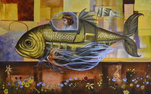 Carlos SABLÓN - Peinture - Le Voyage Fantastique II