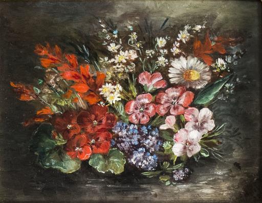 Émile Augustin V. DELOBRE - Gemälde - Flowers