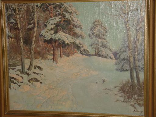 Paul WEIMANN - Pintura - schlesische Winterlandschaft