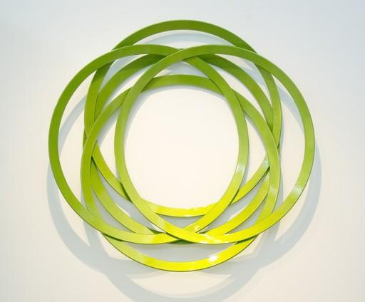 Shayne DARK - Sculpture-Volume - Erratic Colour Granny Smith Green