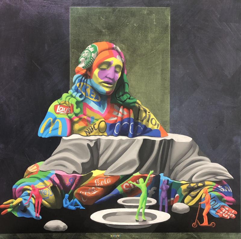 Viktoria VEISBRUT - Painting - New Religion