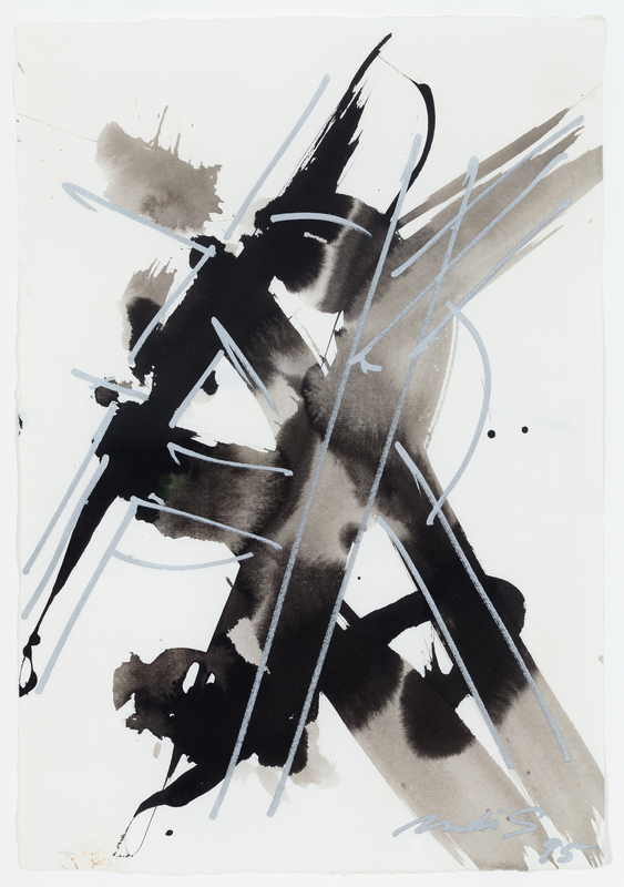 DI SUVERO Mark - Dessin-Aquarelle - Untitled (drawing)