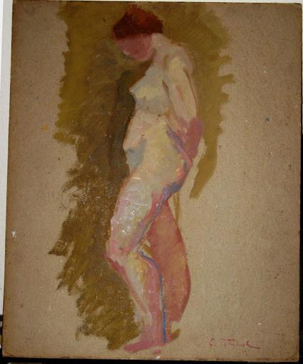 Gustave PATRIARCHE - Pintura - NU DANS L'ATELIER