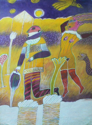 Véronique WIRBEL - Painting - L'oiseau