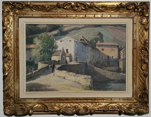 René Marie JOLY DE BEYNAC - Painting - Le vieux pont