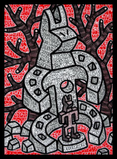SPEEDY GRAPHITO - Gemälde - Amulette