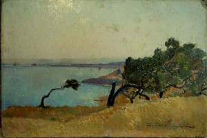 David DELLEPIANE - Peinture - Coup de vent sur les pins, environs de Toulon