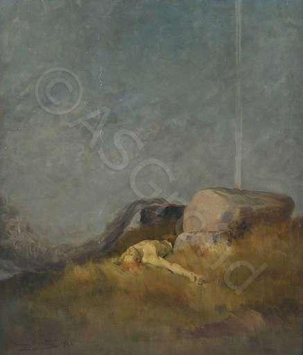Hans BERTLE - Pintura - Geburt des Todes
