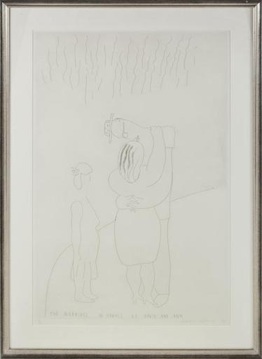 David HOCKNEY - Stampa-Multiplo - The Marriage in Hawaii of David and Ann