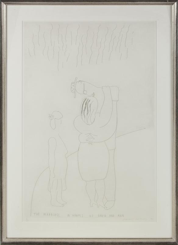 David HOCKNEY - Print-Multiple - The Marriage in Hawaii of David and Ann