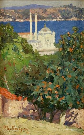 Panos TERLEMEZIAN - Pintura - Constantinople, la mosquée d'Ortaköy