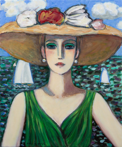 Jean-Pierre CASSIGNEUL - Gemälde - La Robe Vert
