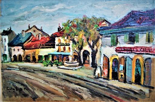 Harry URBAN - Gemälde - Vue de Carouge ( Genève - Suisse )