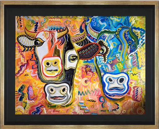 Jean Patrick TRONCA - Painting - Vachement Pop