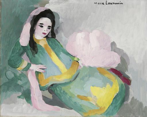 マリー・ローランサン - 绘画 - Femme allongée