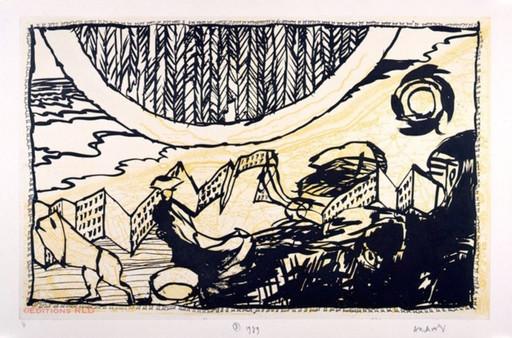 Pierre ALECHINSKY - Print-Multiple - Le Siege de Nieuport