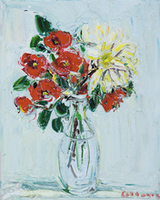 André COTTAVOZ (1922-2012) - Red Rose and Dahlia