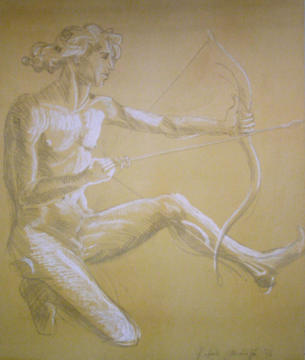 Raffaele MONDAZZI - Peinture - Cupido