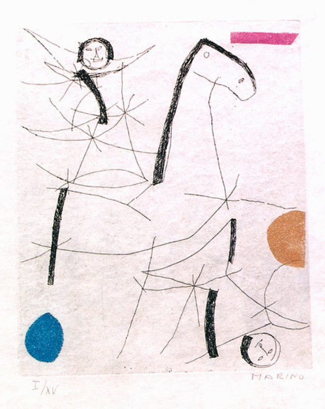 Marino MARINI - Print-Multiple - Tout Pres De Marini Plate VII A137