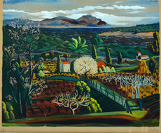 Moïse KISLING - Grabado - Landscape in Saint- Tropez