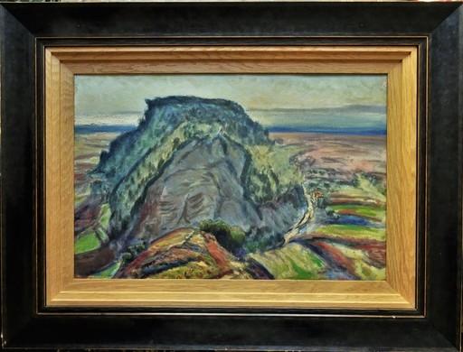 René SEYSSAUD - Peinture - Colline du Guébi près de l'étang de Berre, Provence