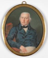 "Henri Jacob ALDENRATH - Miniatura - ""Portrait of a military doctor"" large miniature"