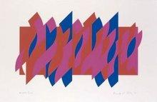 Bridget RILEY - Print-Multiple - Red, Red, Blue