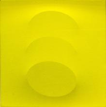 Turi SIMETI - Pintura - Tre ovali gialli