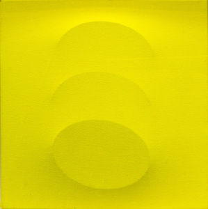 Turi SIMETI - Painting - Tre ovali gialli