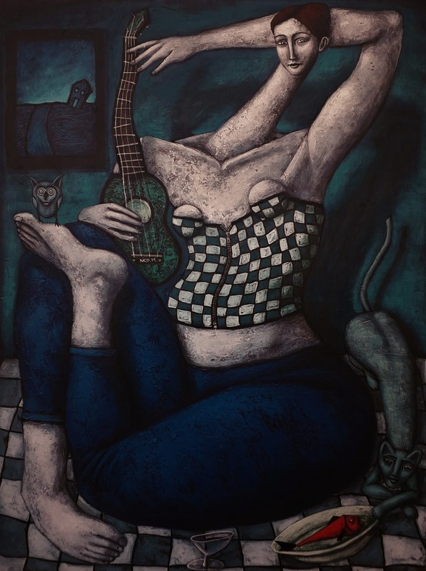 Nicolas MONJO - Painting - La cérémonie