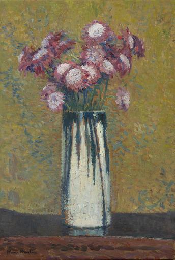 Henri MARTIN - Gemälde - Vase de fleurs